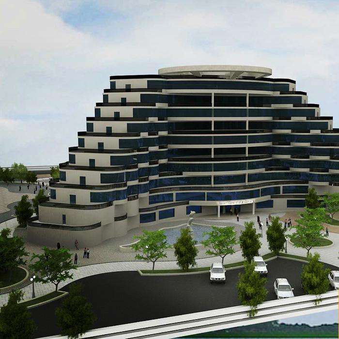 پروژه آماده معماری هتل پلکانی