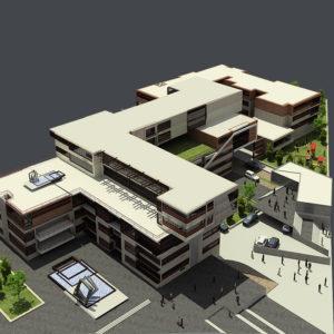 پروژه دانشجویی معماری مجتمع مسکونی