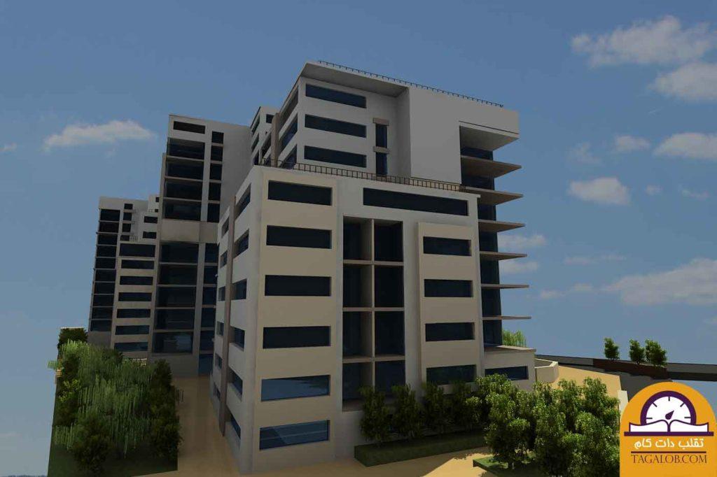پروژه دانشجویی مجتمع مسکونی مدرن