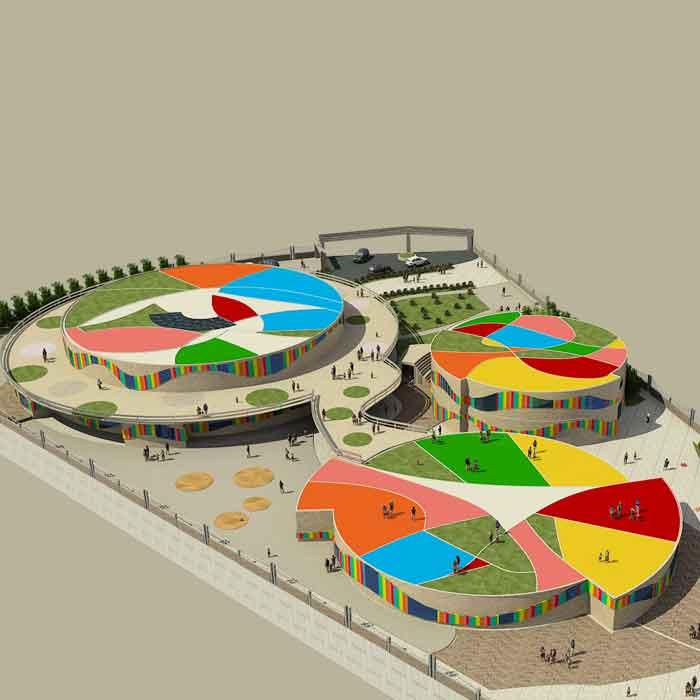 پروژه دانشجویی معماری مهد کودک