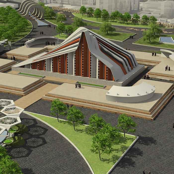 پروژه دانشجویی معماری معبد
