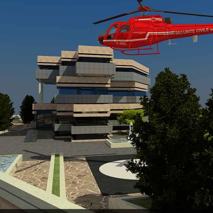 پروژه دانشجویی بیمارستان چهار طبقه