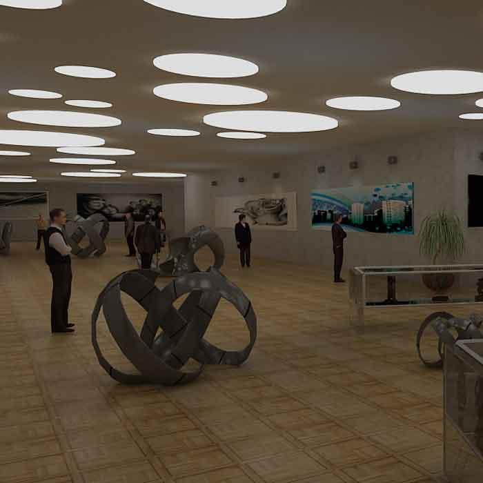 پروژه دانشجویی معماری داخلی موزه