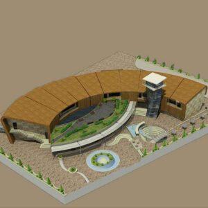 پروژه دانشجویی موزه پلان قوسی