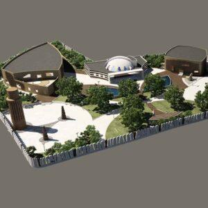 پروژه دانشجویی معماری آرامگاه شمس تبریزی