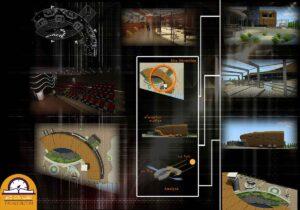 پروژه دانشجویی موزه پلان قوسی 03