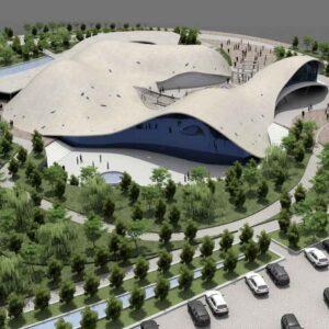 پروژه دانشجویی معماری سینما تپه ای