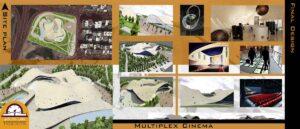 پروژه دانشجویی معماری سینما تپه ای 04