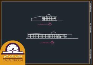 پروژه دانشجویی معماری فرهنگسرا رواق 02