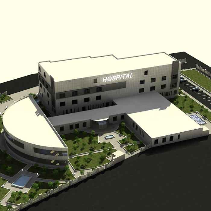 پروژه دانشجویی معماری بیمارستان تخصصی