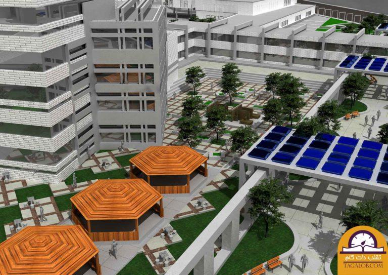 دانلود رایگان پروژه آماده معماری طرح شهرک مدرن